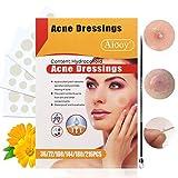 Parches de acné Quitar acne,Acne Tratamiento Máscaras Hidrocoloides Invisibles Que Suavizan Eficazmente la Reparación de La Piel Del Acné/Absorción de Secreciones, 2tamaños(con Agujas)