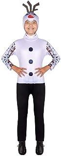 Tsyllyp Unisex Child Christmas Snowman Costumes Halloween Bodysuit Jumpsuit Cosplay