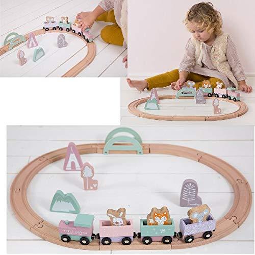 Little Dutch Holzeisenbahn mit Schienen -Adventure Pink 4422