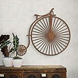 Chapa Deko caoba madera natural Madera bicicleta antigua biciclo de Wall Art