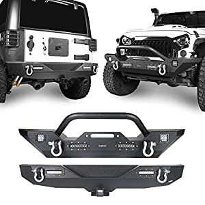 Hooke Road Textured Black Front Bumper + Rear Bumper