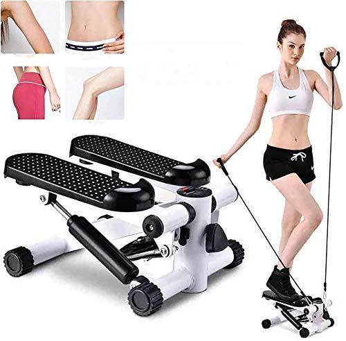 Uitgerust met stille loopband thuis mini afvallen multifunctionele pedaal fitnessapparatuur Steppers,Black