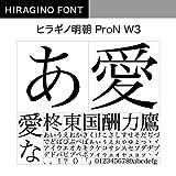 OpenType ヒラギノ明朝 ProN W3 [ダウンロード]