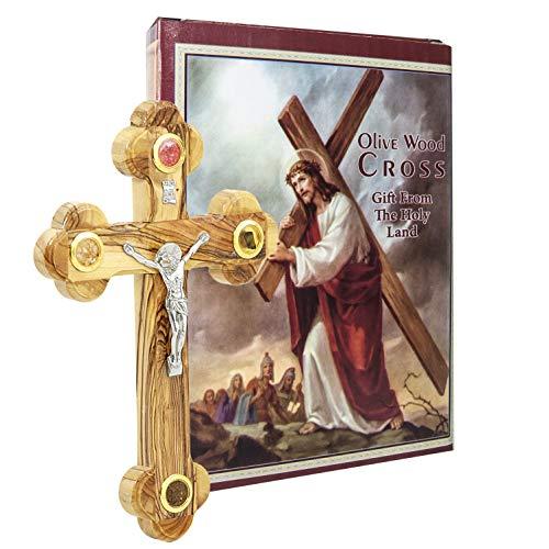 Wand Kreuz Olivenholz mit Kruzifix katholischen von Jerusalem