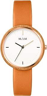 Mam relojes plano Womens Analog Japanese quartz Watch with Leather bracelet 668