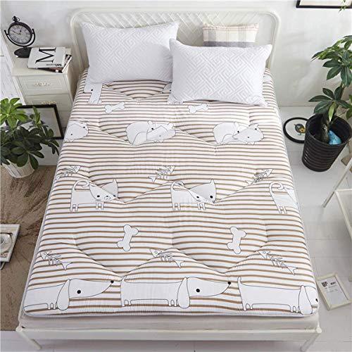 FF Futon Möbel Baumwolle/Schaum/Polyester Traditionelle japanische Futon-Rollmatratzen, Yoga-Meditationsmatten, Betten, H, 100 * 200 cm