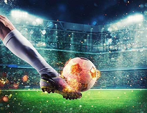 WZZPSD Malen Nach Zahlen Fußballspieler Mit Fußball DIY Einzigartige Moderne Geschenk-Wohnkultur-Art