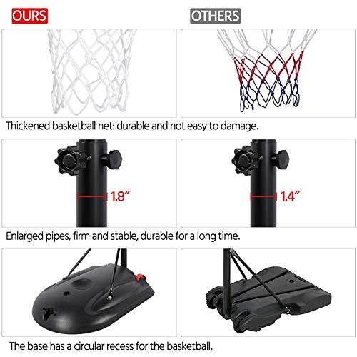 Topeakmart 7-9ft Portable Basketball Hoops
