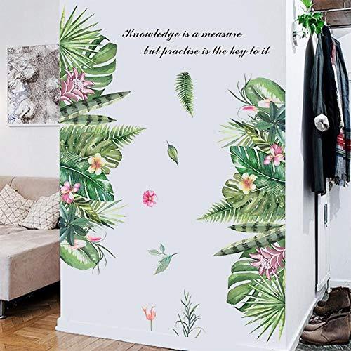 Plant baseboard bloem muursticker muurschilderingen voor woonkamer TV achtergrond kinderen meisjes kamer slaapkamer decoratie