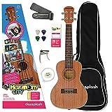 Classplash Konzert Ukulele Hawaii Gitarre & Lern App Harmony City für Anfänger Starter Pack (Tasche, Gurt, Kapodastser, Plektren, Aquila Saiten) ab 9 Jahre