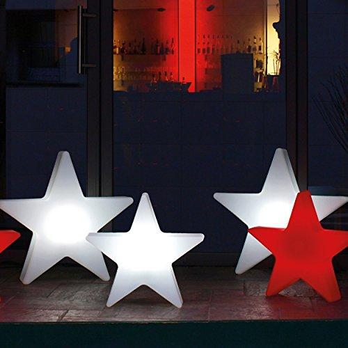 8 seasons design   LED Sternleuchte Shining Star Mini (Ø 40 cm, 15 Farben, harmonischer Farbwechsel, Fernbedienung, beleuchtete Weihnachtsdeko) weiß