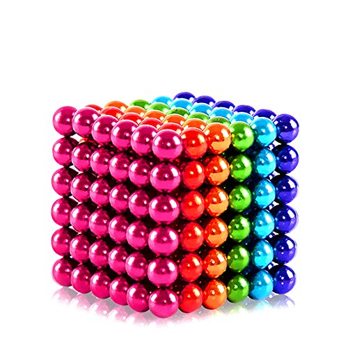 M-agnet Ball Gift Iron Ball Shape M-agnetic Fun Gadget Office Leisure Toys Creative Imagination Bead Jigsaw Toy Puzzle Decompression Building Block (5Millimeter-216Pieces-Colorful)