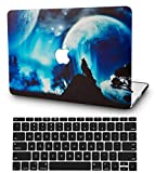 KECC Laptop Case for Old MacBook Pro 13' Retina (-2015) w/Keyboard Cover Plastic Hard Shell Case A1502/A1425 2 in 1 Bundle (Wolf)