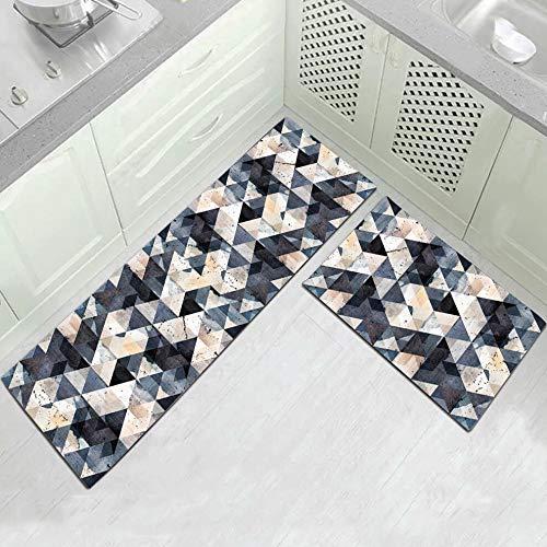OPLJ Patrón de Costura geométrica Alfombra de Piso Cocina Sala de Estar Alfombra Absorbente Alfombra de baño Alfombra de Dormitorio Alfombra de Puerta A1 40x60cm