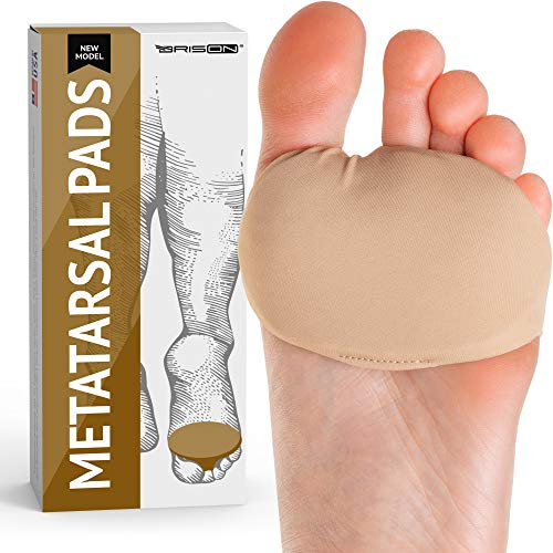 Fabric Metatarsal Pads - Ball of Foot Cushion Sleeves Burning Sensations Forefoot Blisters Metatarsalgia Pain Relief Foot Health Care Tight Fitting Feet - Gel Pads for Men Women