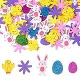 Amosfun 10 unids pintura espuma huevo DIY decoraci/ón de espuma de poliestireno de Pascua para ni/ños Festival Artesan/ía regalo de Pascua PASCUA decoraci/ón del partido 8 cm