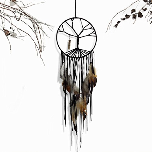 Mimgo Handmade Big Tree of Life Dreamcatcher Wind Chimes Indian Style Hanging Ornament