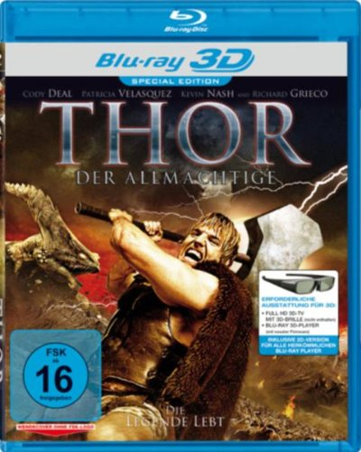 Thor - Der Allm?htige (Real 3D-Edition) (3D Blu-ray) (blu-ray) (import) Pa