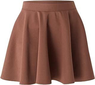 Wakindフレアスカート Aラインミニスカート フェミニンスカート かわいい 脚見せ カジュアル レディカジュアル ヒップラインカバー 生地感たっぷり フレア感 ガーリー 愛されコーデ