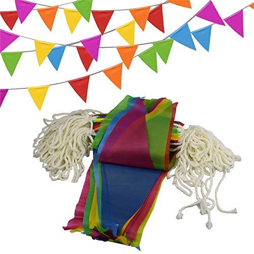 SIMUER Wimpel Banner, 150 Fahnen Bunting Dreieck Wimpelkette Dekoration Flagge für Party draussen Garten 80 m