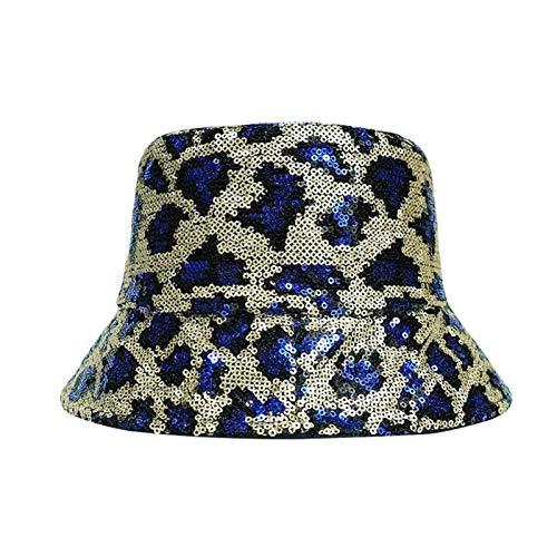H/A Moda Leopardo Pescador Sombrero pequeño Lentejuelas Sombrero Mujer Marea Sol Sol Protector Solar Sombrero Hembra Primavera y Verano Nuevo Pesca Pescador Gorra MENGN (Color : 3, Size : 56-58cm)