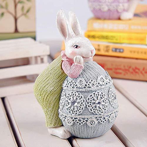 UMBRANDED Conejo de Pascua, decoración de familia, conejos, huevos de Pascua y conejos, decoración de mesa para jardín, fiesta, dormitorio, decoración del hogar A