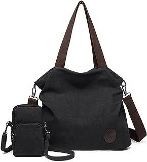 YeumouG Handtasche Damen Canvas Umhängetasche Schultertasche Groß Vintage Hobo Casual Multifunktionale Damen Taschen mit H...