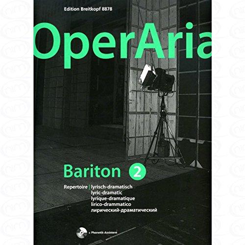 OperAria 2 - arrangiert für Gesang - Mittlere Stimme (mezzo / Medium Voice) - (Bariton) - Klavier - mit CD [Noten/Sheetmusic]