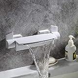 Rubinetto del bacino bagno doccia rubinetto Cascata Vasca da bagno doccia rubinetto nero/bianco/oro/Cromo celato fissato al muro del miscelatore idromassaggio Tap, Bianco