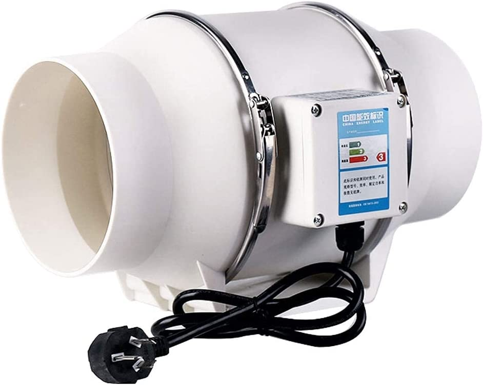 Ventilador de conducto Ventilación de baño Ventilador de Escape Potente Campana extractora de Cocina silenciosa Hogar (Tamaño: 320 * 200 MM)