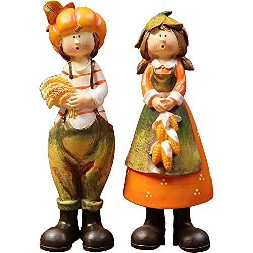 エルフ装飾モデル、漫画のキャラクターの彫刻像樹脂塗られたカップルのキャラクターの装飾品屋内と屋外のデスクトップの装飾コレクション子供の贈り物