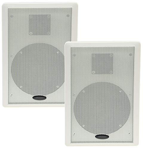 Flatpanel Lautsprecher 2-Wege 40Watt 2 Stück Wand-Lautsprecher 37mm flach Aufbau-Lautsprecher Weiß