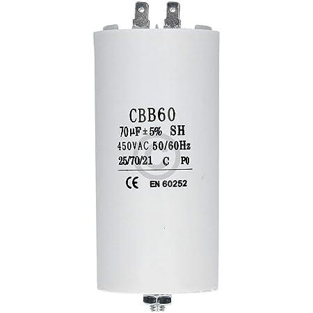 Kondensator Mit Steckfahnen Und Befestigungsschraube Cbb60 70 00µf 450 Volt Küche Haushalt