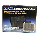 B&M 70274 SuperCooler Black Aluminum Fluid Cooler