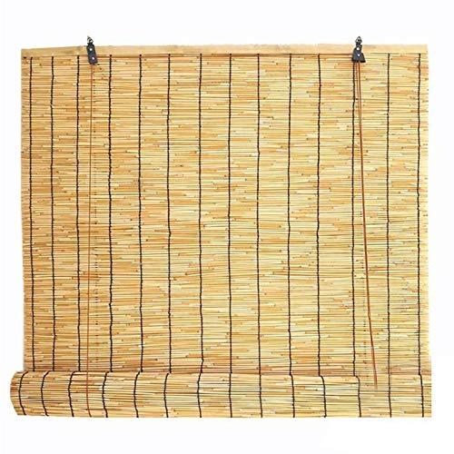 GAXQFEI Cortinas de Lámina de Bambú Natural, Levantamiento de Casa As de Rodillos Retro, Techo Suspendido Sombrero Ciego de Techo, Personalizable, para Patio/Restaurante/Casa de Té,90 * 100Cm