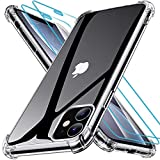 Joyguard Coque Compatible avec iPhone 11 avec 2 Verre trempé Protection écran, Souple TPU Silicone Shock-Absorption Protection Coin Housse Compatible avec iPhone 11-6.1pouces - Transparent