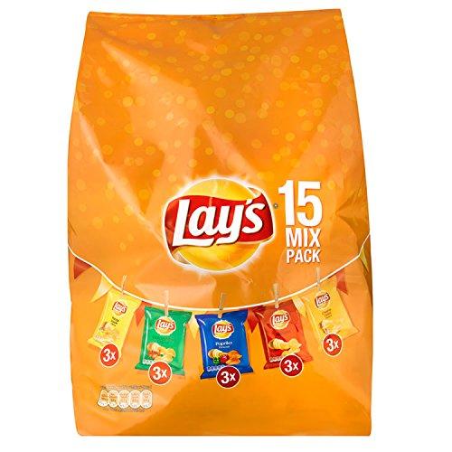 Lays Chips 15 Mix Pack 413g. Versch. Sorten Chips Knabberspaß von Lays