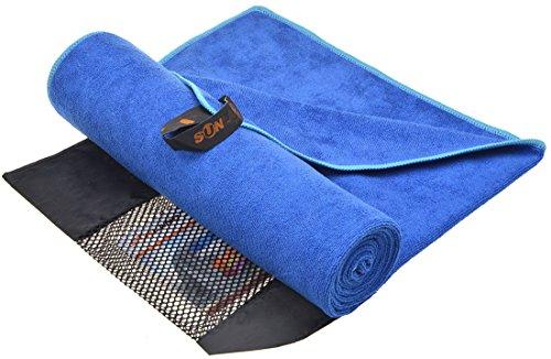 Sunland extra sugfähiges Mikrofaser Sport-Handtuch, dunkelblau, 60x120cm