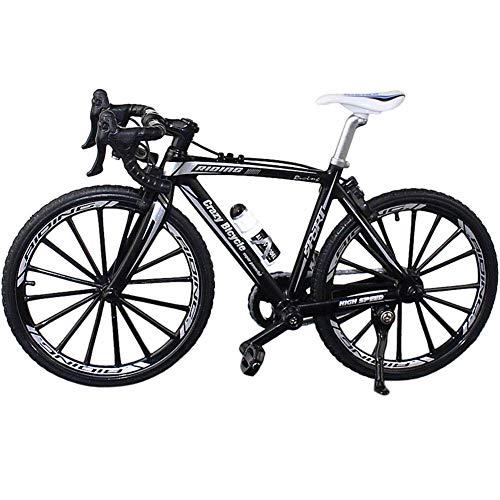 Ganquer Coleccion Decoración Diecast Juguetes Mini Bend Bicicleta Modelo Carreras Bici Montaña Bicicleta - Negro, Free Size
