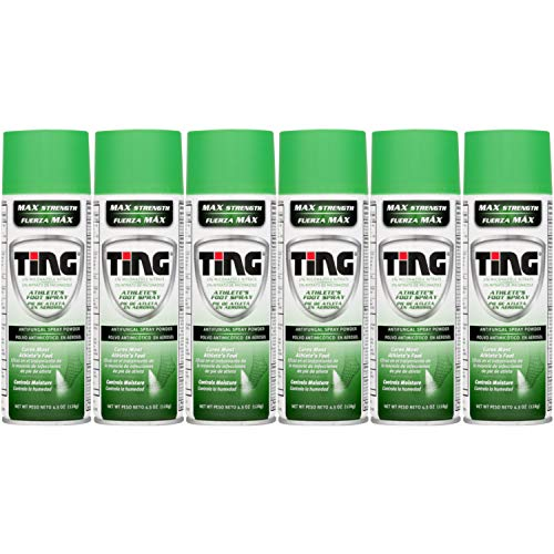 Ting Maximum Strength Athlete's Foot Spray, 4.5 Ounces each (Value Pack of 6)
