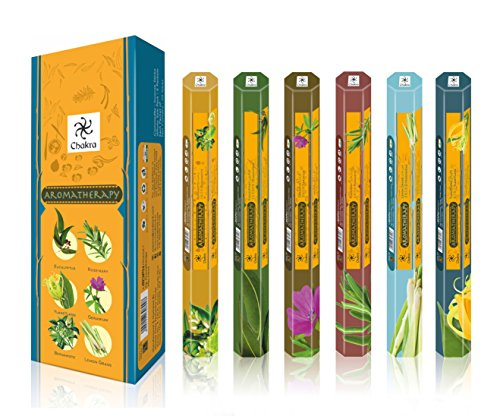 chakra Aromatherapy Natural Fragrance Scented Sticks - Promotes Health and Well Being- 20 Incense...