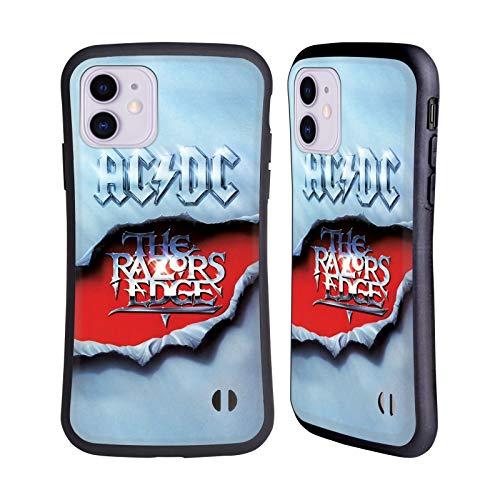 Officiële AC/DC ACDC De Rand van de scheermessen Album Kunst Hybrid Case Compatibel voor Apple iPhone 11