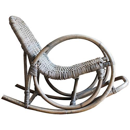 NBRTT Silla Mecedora de ratán, sillas mecedoras de Mimbre, sillón reclinable para Relajarse, Silla reclinable para Uso al Aire Libre, Tumbona, jardín, Patio, sofá, Patio, Muebles, Porche de café