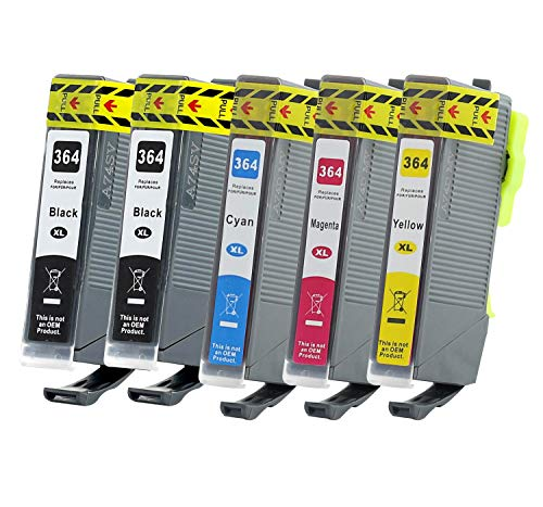 Bubprint - 5 cartuchos de tinta compatibles con HP 364XL 364 XL para DeskJet 3070A 3522 OfficeJet 4620 PhotoSmart 5525 6510 7520 e-All-in-One Plus B209A