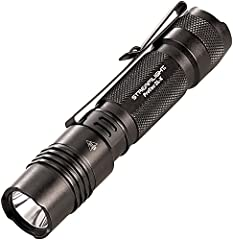 500 lumen EDC tactical flashlight Multi battery versatility; High for maximum illumination: 500 lumens; 6,800 candela; 165 meters beam; runs 2.75 hours (CR123A batteries); runs 3.25 hours (rechargeable battery) Aluminum housing with type 2 military s...