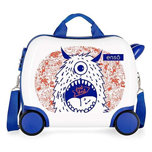 Enso Fantasy Maleta Infantil Multicolor 41x34x20 cms Rígida ABS Cierre combinación 25L 2Kgs 4 Ruedas Equipaje de Mano