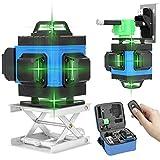 Kecheer Nivel laser autonivelante 16 líneas con Blue-tooth control,Nivelador laser 4D horizontal vertical,Niveles láser verde función de autonivelación