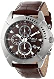 Pulsar Men's PF8303 Stainless Steel Sport Watch with Leather Band
