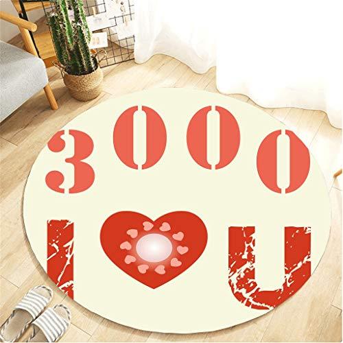 Scrolor Runde Teppiche für Wohnzimmer kreative ich Liebe Dich DREI tausend Text Teppich Kinderzimmer Bodendekoration