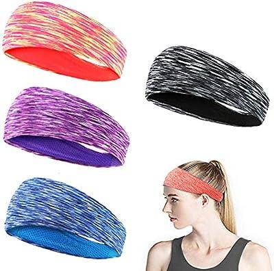 EPCHOO Elastische Sport Stirnbänder